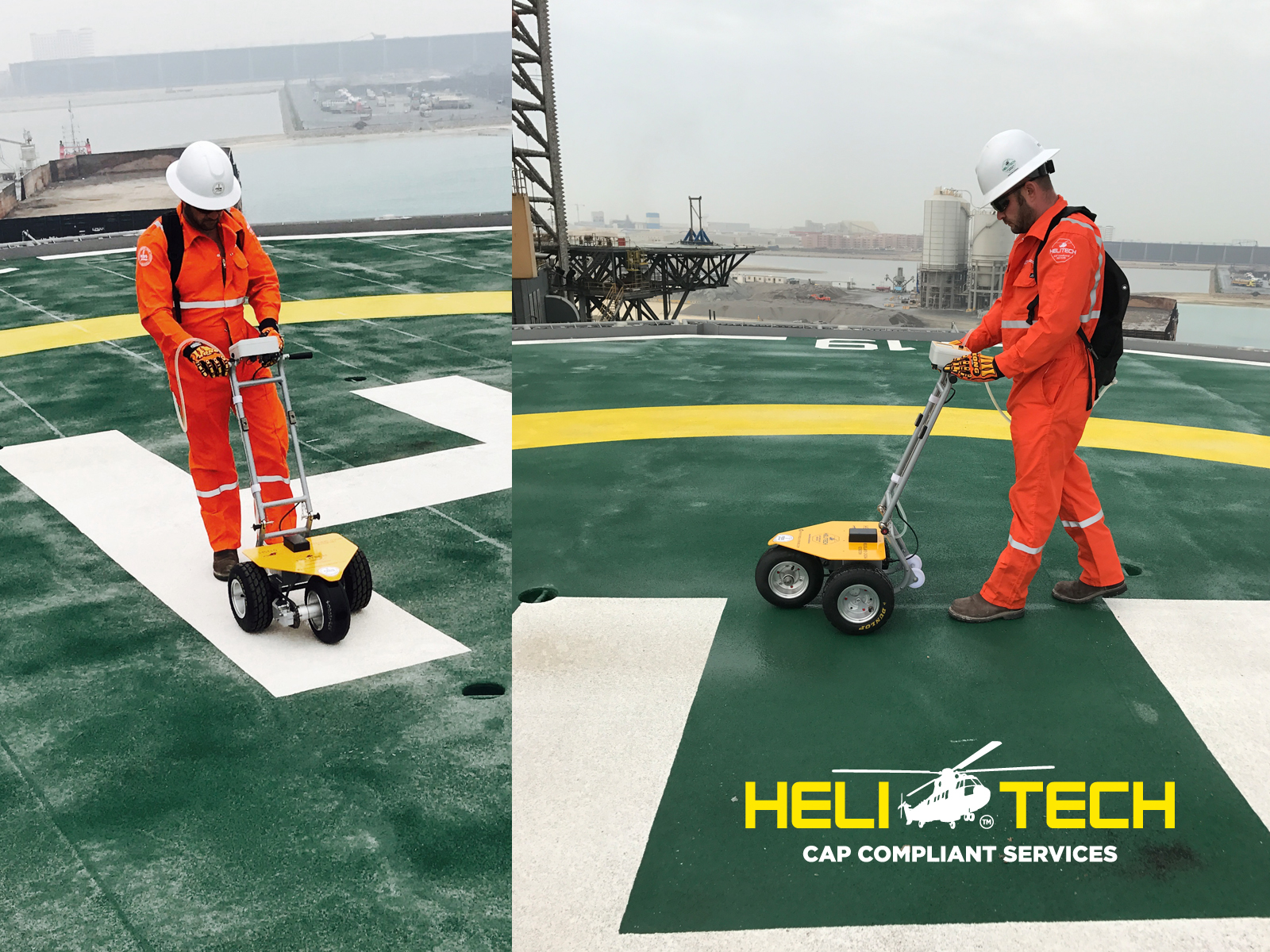 HELIDECK FRICTION TEST FEDS ENGINEERING WLL DOHA QATAR - Floor friction tester