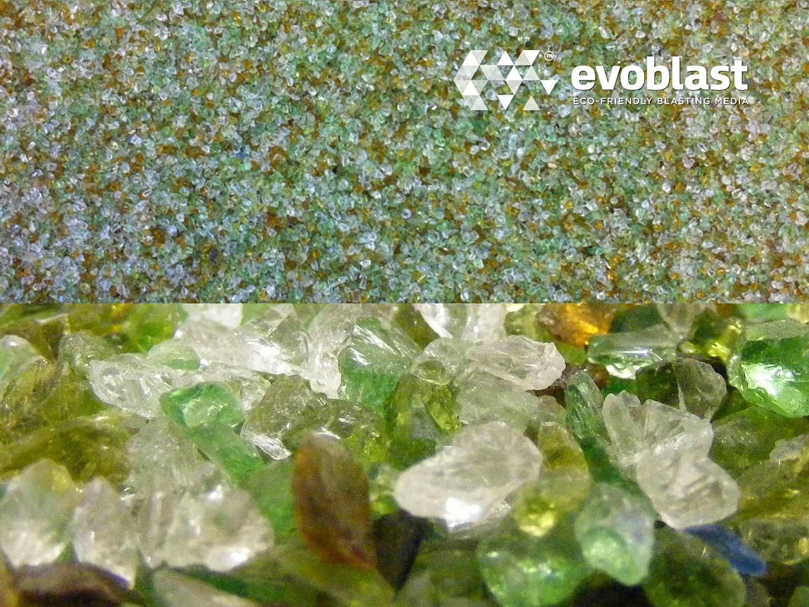 recycled glass media evoblast