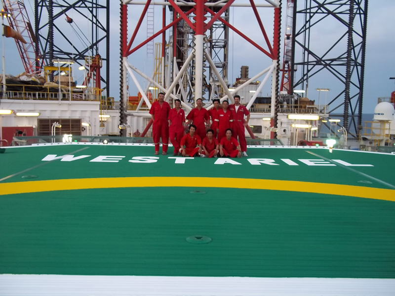Offshore helideck refurbishment for Seadrill